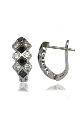 LIBERTY ONIX CZ EARRINGS