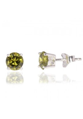GREEN CZ STUD EARRINGS