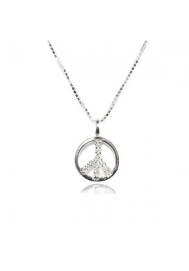 STERLING SILVER CHAIN WITH PEACE SYMBOL