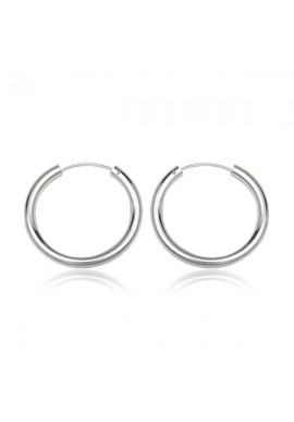 STERLING SILVER THIN BASIC HOOPS