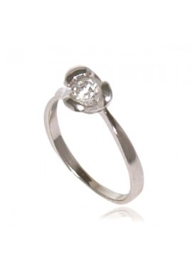 FLOWER SOLITAIRE RING