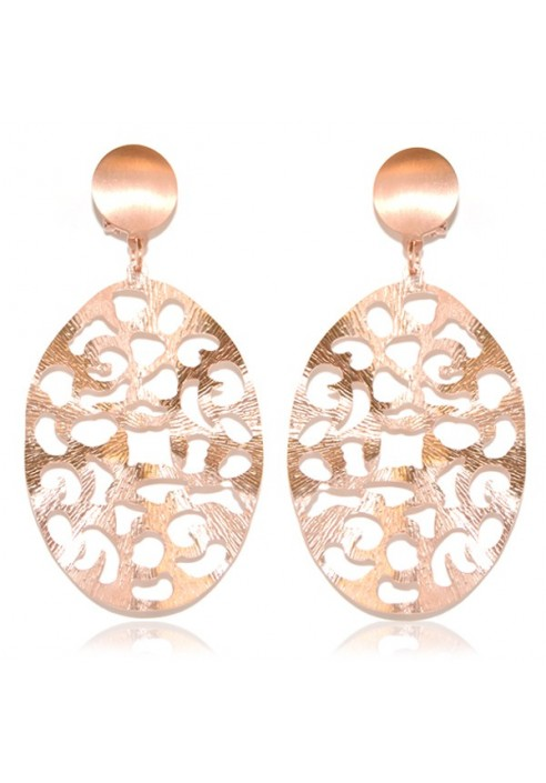 OVAL LACED EARRINGS. MYSTÈRE COLLECTION