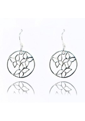 BUTTERFLIES CIRCLE EARRINGS